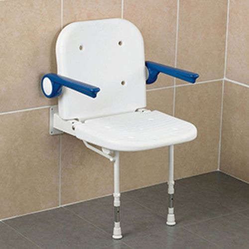 Days Wall-Mounted Shower Seat with Back and Arm Rests