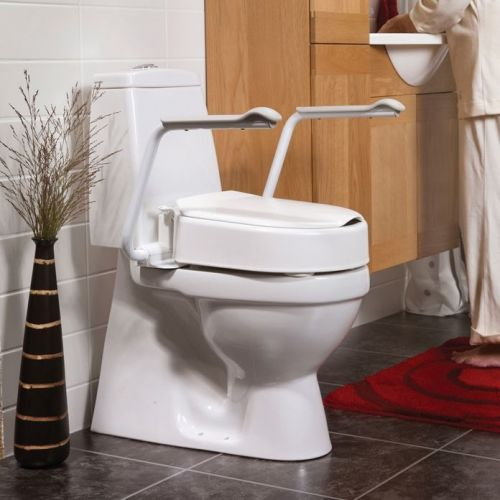 Etac Hi-Loo II Fixed Raised Toilet Seat with Armrests