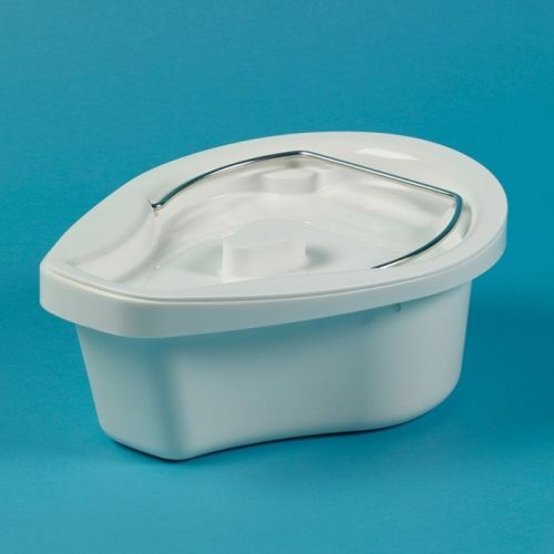 Oval Commode Pan with Locking Lid