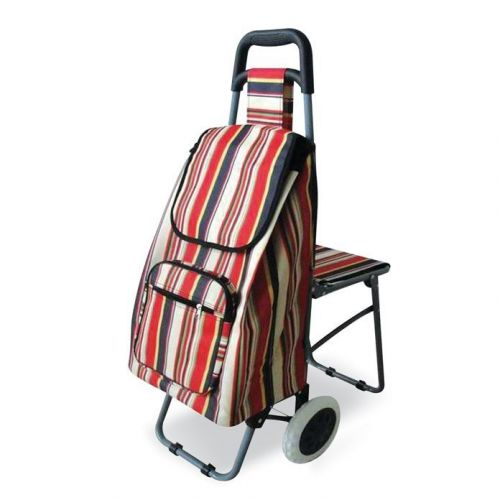 Leisure Shopping Trolley with Fold Down Seat