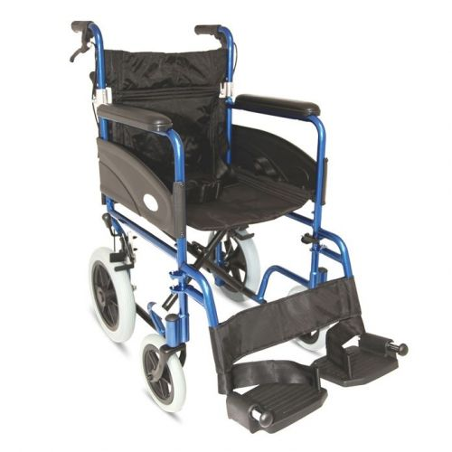 Z-Tec Folding Aluminium Transit Wheelchair with 20-inch Seat