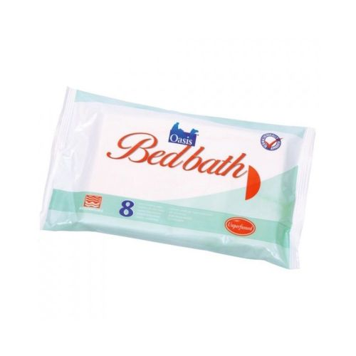 These Oasis Bedbath Wipes perfumed - 1 x 8 wipes offer a viable alternative to traditional bathing.</p> <p>They are perfect for people whose limited mobility makes getting into and out of a bath or shower overly difficult.