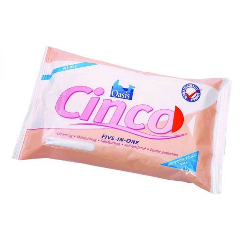 Oasis Cinco Incontinence Wipes