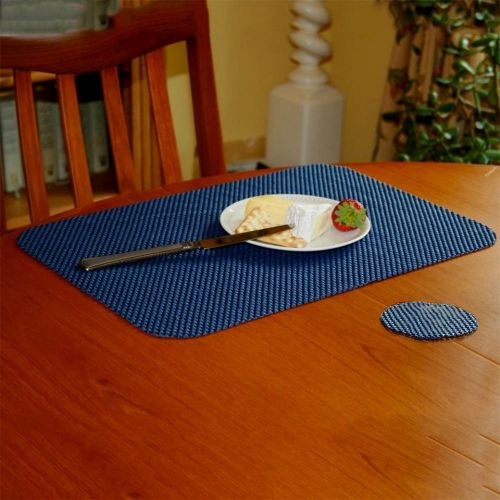 StayPut Non-Slip Fabric Tablemat (x6) and Coaster (x6) Set