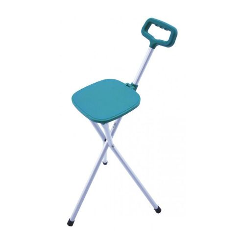 Tri-Folding Cane Seat in Lightweight Aluminium