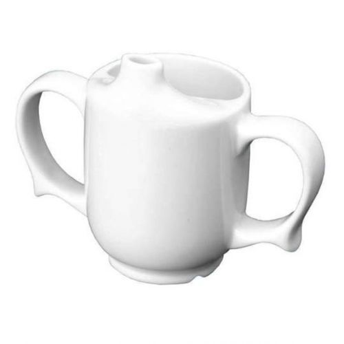 Wade Dignity Two Handled Feeder Cup - White
