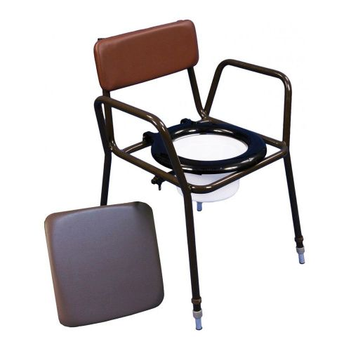 Z-Tec Adjustable Height Stacking Commode