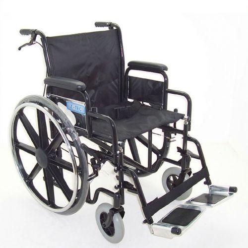 Z-Tec Folding Heavy Duty Extra Wide Steel Wheelchair