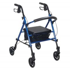 Rollator With Height Adjustable Seat -  Blue