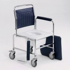 Height Adjustable Drop Arm Mobile Commode