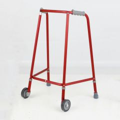 Days Red Wheeled Walking Frames - Adjustable Height