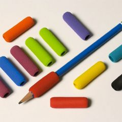 Grab-On Pen and Pencil Grips