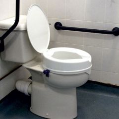 Economy Raised Toilet Seat with Lid