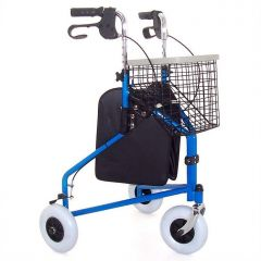 Z-Tec Folding Steel Tri-Wheel Walker