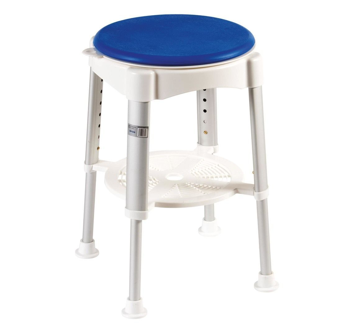 Bath Stool With Rotating Padded Seat Essential Aids Uk