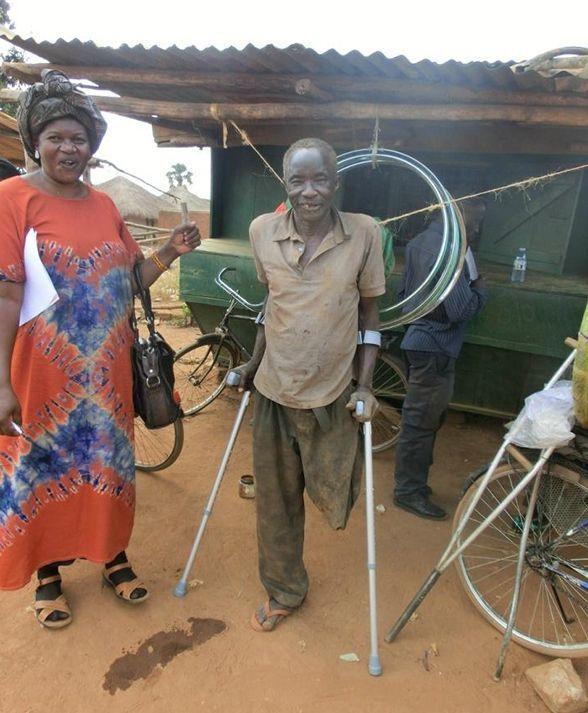 Essential Aids crutches in Uganda